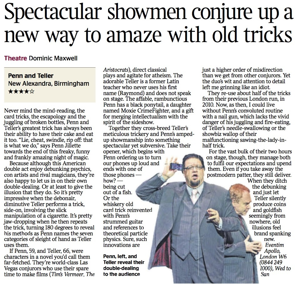 P&T; The Times Review 17.6.14