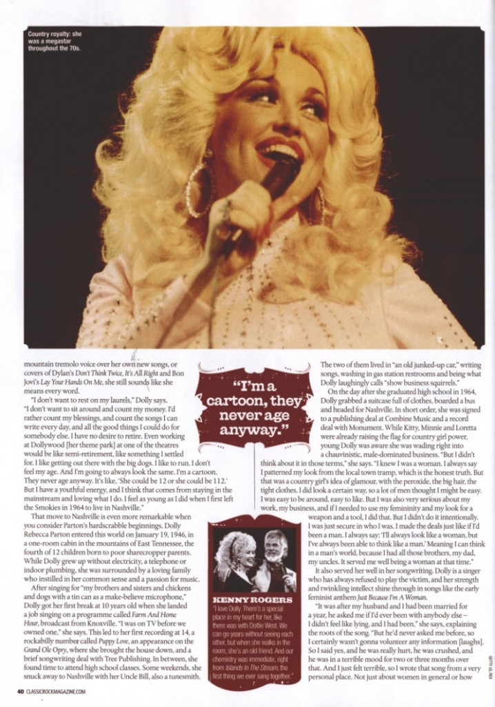 DOLLY; Country Feature Page 5 1.1.14