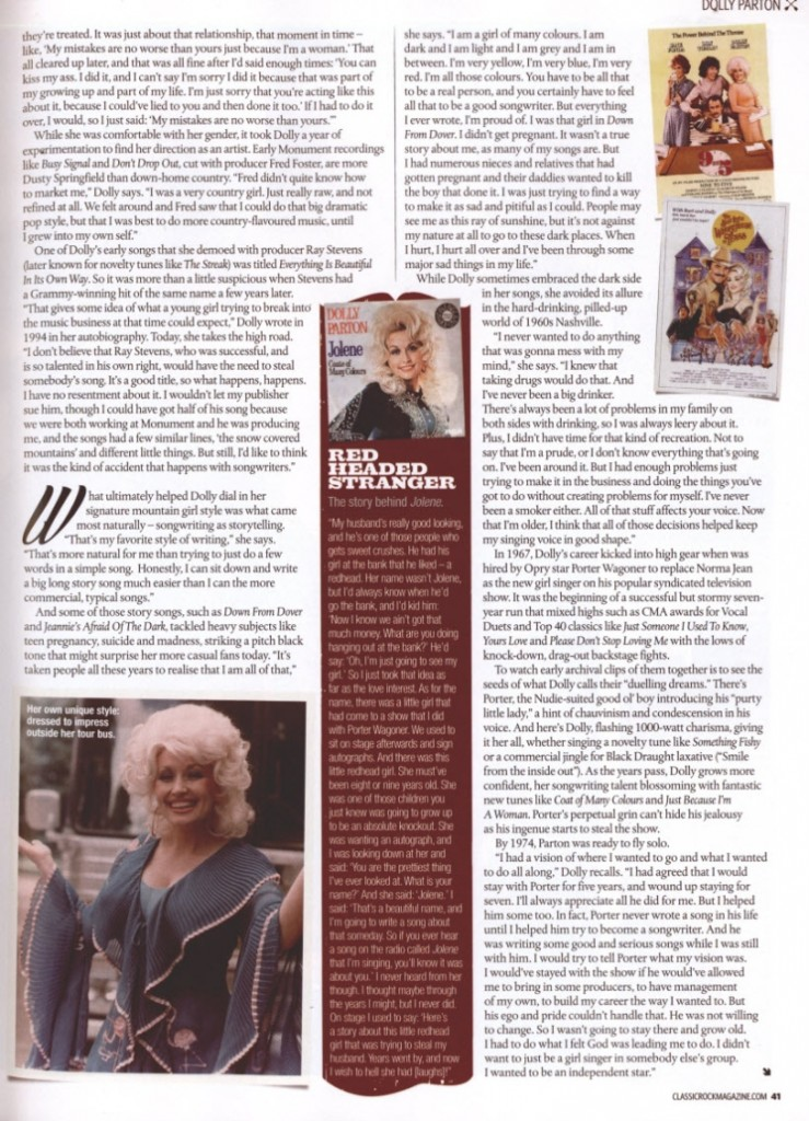 DOLLY; Country Feature Page 6 1.1.14