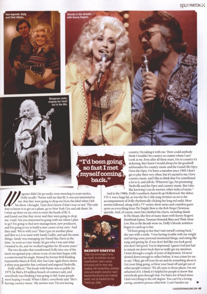 DOLLY; Country Feature Page 9 1.1.14